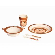 Детский набор посуды 5 пр обезьянка Con Brio