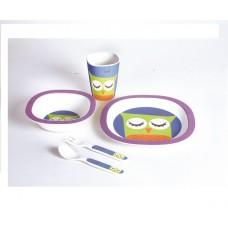 Детский набор посуды 5 пр сова Con Brio