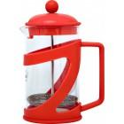 Заварник 800 мл стекло + пластик Con Brio красный