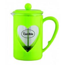 Заварник 800 мл стекло + пластик Con Brio зеленый