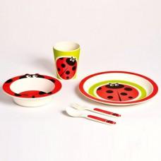 Детский набор посуды 5 пр божья коровка Con Brio