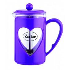 Заварник 800 мл стекло + пластик Con Brio фиолетовый