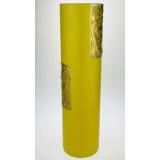 """Ваза стеклянная ручной работы """"Желтый узор"""""""