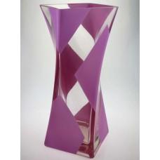"""Ваза стеклянная ручной работы """"Розовый узор"""""""