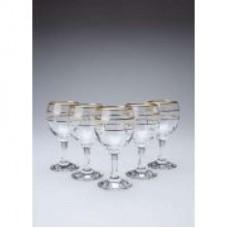 Набор бокалов для вина 6 шт 170 мл Fancy золотая окантовка