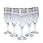 Набор бокалов для шампанского 6 шт 190 мл Bright золотая окантовка
