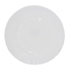Тарелка стеклокерамика 20 см Белая SNT
