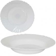 Тарелка суповая 22 см Белая SNT