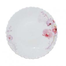 Тарелка стеклокерамика 19 см Розовая орхидея SNT