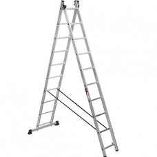 Лестница двухсекционная приставная алюминиевая, 10 ступеней Stark (Германия) SVHR2x10