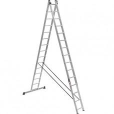 Лестница трехсекционная усиленная алюминиевая Stark (Германия) 3*15 SVHR3x15pro