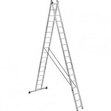 Лестница двухсекционная алюминиевая усиленная Stark (Германия) 2*17 SVHR2x17pro