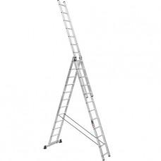 Лестница трехсекционная алюминиевая усиленная Stark (Германия) 3*12 SVHR3x12pro
