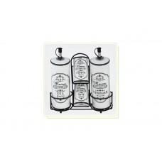 """Набор для специй керамический Maestro - 5 ед. вертикальный """"Paris Maison"""""""
