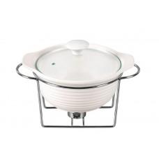 Мармит керамический Maestro - 225 мм х 1,2 л, посуда для подачи горячих блюд с подогревом