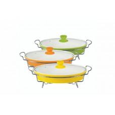 Мармит керамический Maestro - 240 х 350 мм х 2,5 л, посуда для подачи горячих блюд с подогревом