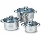 Набор посуды нержавеющий Maestro - 1,5 х 3 х 5 л, (3 шт.)