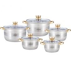 Набор посуды нержавеющий Maestro - 1,5 x 2 x 3 x 5 x 6 л (5 шт.)