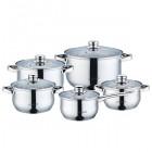 Набор посуды нержавеющий Maestro - 1,5 x 2 x 3 x 5 x 1,5 л (5 шт.)