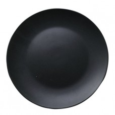 Тарелка десертная черная 20 см