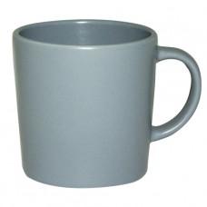 Чашка матовая серо-голубая 380 мл