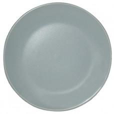 Тарелка десертная матовая голубая 20 см