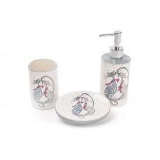 Набор для ванной Влюбленные коты дозатор, подставка для щеток и мыльница