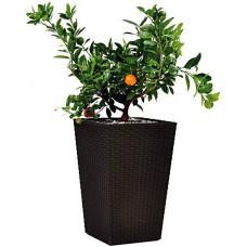 Горшок для цветов Large Rattan Planter 145 л. Искусственный ротанг