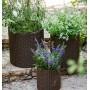 Горшок для цветов 18 л. Cylinder Planter Medium, коричневый ротанг