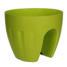 Горшок для цветов Elba 4,2 л. Зеленый пластиковый