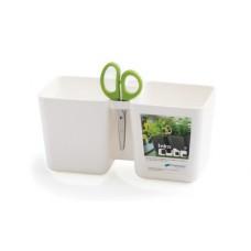 Горшок для растений TWINCE CUBE - белый, 2,5 л, двойной