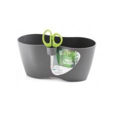 Горшок для растений Limes DUBLO - серый, 2,3 л из пластика, двойной