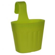 Горшок для цветов Fiorenza 3,8 л. Зеленый пластик