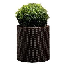 Горшок для цветов 39 л. Cylinder Planter Large, коричневый из ротанга