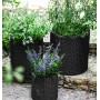Горшок для цветов 39 л. Cylinder Planter Large, серый из ротанга