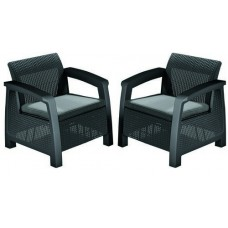 Кресло, Bahamas Duo, графит - прохладный серый