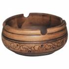 Пепельница Шляхтянская 9*4 см керамическая глиняная