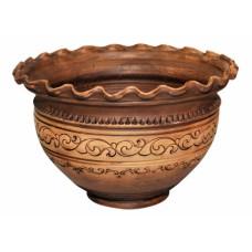 Макитра-волна Шляхтянская 4 л керамическая глиняная
