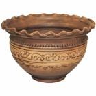 Макитра-волна Шляхтянская 2,5 л керамическая глиняная