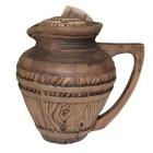 Кувшин Бондарский 1 л керамический глиняный