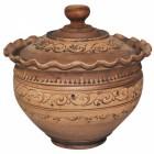 Макитра-Волна Шляхтянская 4 л с крышкой керамическая глиняная