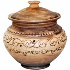 Горшок Шляхтянский 1,8л керамический глиняный