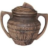 Баняк (горшочек с ручками) Бондарский 0,5 л керамический глиняный