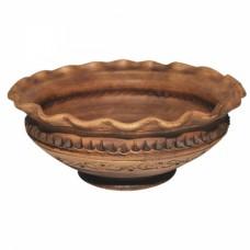 Миска-Волна Шляхтянская 1,4 л керамическая глиняная