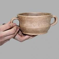Бульонник 0,650 л Виноград керамический глиняный