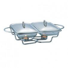 Мармит 3л (две емкости по 1,5л) Berlinger Haus для подачи горячих блюд с подогревом