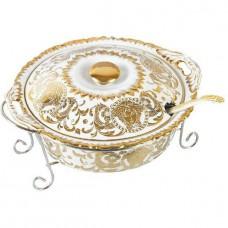 Мармит фарфоровый 2,2 л Madonna посуда для подачи горячих блюд с подогревом