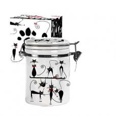Емкость для сыпучих продуктов 0,5 л Черная кошка SNT