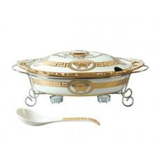 Мармит керамический Madonna 2,2 л посуда для подачи горячих блюд с подогревом