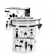 Емкость для сыпучих продуктов 0,75 л Черная кошка SNT